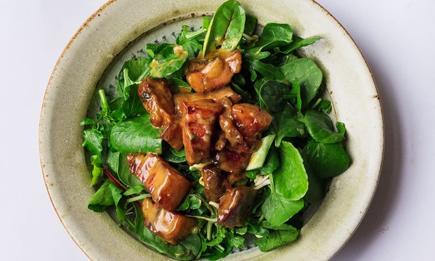 Nigel Slater's pancetta, cream and leafy greens recipe